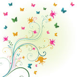 Floral background. With place for text Royalty Free Illustration