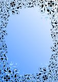 Floral background. Ornamental design, digital artwork, background royalty free illustration