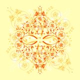 Floral background. Ornamental design, digital artwork vector illustration