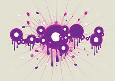 Floral  background. Adobe illustrator file is available Royalty Free Stock Photo