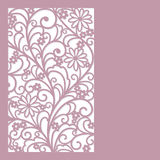 Floral   background. Abstract  floral  card (lazer cute Royalty Free Stock Photos