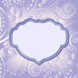 Floral background. Floral abstract background with decorative frame stock illustration