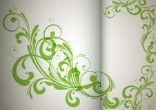 Floral background abstract design. Eps 10 Stock Photography