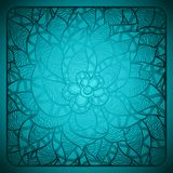Floral background with abstract hand drawn flowers Royalty Free Stock Photos