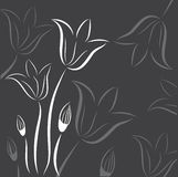 Floral background with abstract tulips Stock Image