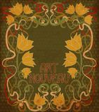 Floral background in art nouveau style, vector Stock Photos