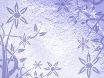 Background with floral fantasy in blue tones Stock Images