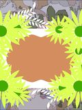 Colorful background with daisies Stock Photo