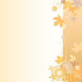 Floral  background in autumn. Vector illustration of a floral  background in autumn Stock Photos