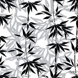 Floral background. Bamboo leaf pattern. seamless nature texure Royalty Free Stock Image