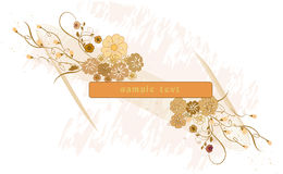 Floral background with banner Royalty Free Stock Photos