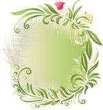 Floral Background Banner. A vector illustration of floral background in green Royalty Free Stock Image