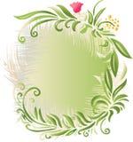 Floral Background Banner. A vector illustration of floral background in green vector illustration