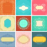 Floral background and banner. Vector illustration of floral background and banner Royalty Free Stock Images