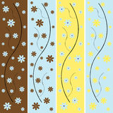 Floral background banners Stock Photo