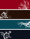 Floral background banners Royalty Free Stock Images