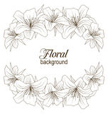 Floral Background with Beautiful Lilies Royalty Free Stock Images