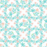 Floral background. Beauty vector texture in pastel colors. Cute background for textile and decoration Royalty Free Stock Photos