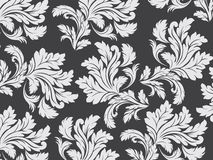 Floral background with big leaf Stock Image