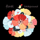 Floral background with a bird Royalty Free Stock Photography