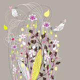 Floral background with birds Royalty Free Stock Images