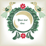 Floral background with birds. Cute floral background with birds Royalty Free Stock Image