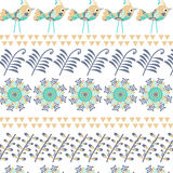 Floral  background with birds  for design Royalty Free Stock Image