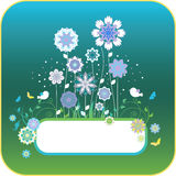 Floral background with birds and flowers Royalty Free Stock Photo