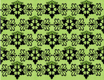 Floral Background Black and Green. A seamless vector wallpaper with the floral ornament in black and green tones Royalty Free Stock Images