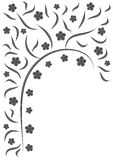 Floral background. Black and white floral background Royalty Free Stock Photo