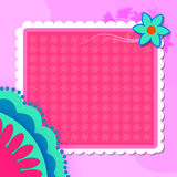 Floral background with blank space Stock Images
