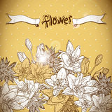 Floral background with blooming flowers Royalty Free Stock Photos