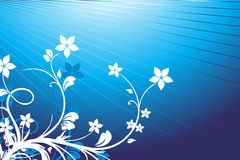Floral background blue Stock Photos