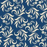 Floral background on blue Stock Photography
