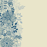 Floral background in blue colours Royalty Free Stock Photo