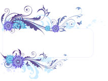 Floral background with  blue flowers Royalty Free Stock Photography