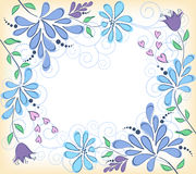 Floral background. Blue Stock Photography