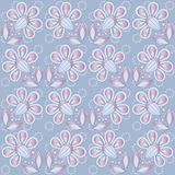 Floral background blue Stock Photo