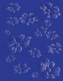 Floral background blue tint gradient Royalty Free Stock Image