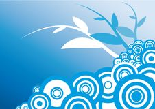 Floral Background blue white Stock Photo