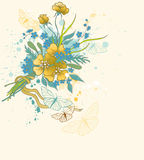 Floral background with bouquet Royalty Free Stock Photos