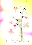 Floral background. A bouquet in a vase Stock Illustration