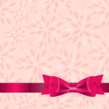 Floral Background with Bow and Ribbon Vector Royalty Free Stock Photos