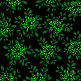 Floral background. Bright green floral background. Petals stock illustration