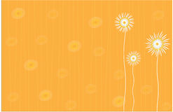 Floral background in bright yellow Stock Photo
