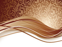 Floral background in brown color Royalty Free Stock Photos
