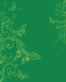 Floral background with butterflies Stock Image