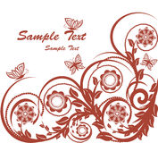 Floral background with butterflies. Stock Photography