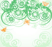 floral background with butterflies. Royalty Free Stock Photos