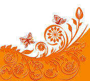 Floral background with butterflies. stock photos